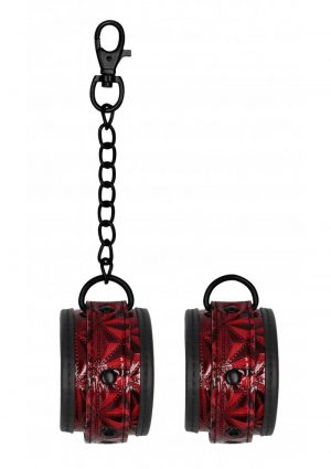 Ouch! Luxury Ankle Cuffs – Burgundy