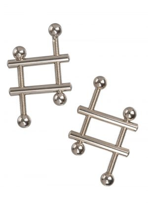Nipple Grips Crossbar Nipple Vices – Silver