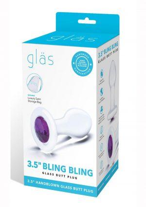 Glas Jewel Anal Plug - Clear