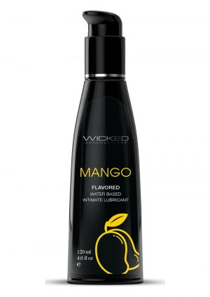 Wicked Aqua Water Based Flavored Lubricant Mango 4oz
