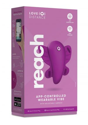 Love Distance Reach App Controlled Rechargeable Silicone Wearable Vibe - Rose