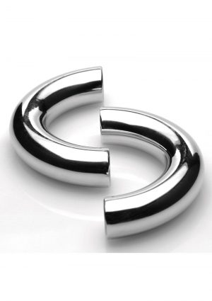 Master Series Mega Magnetize Stainless Steel Cock Ring 1.75in – Silver
