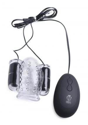 Trinity 4 Men Twin Bullet Penis Head Teaser With Remote Control – Clear