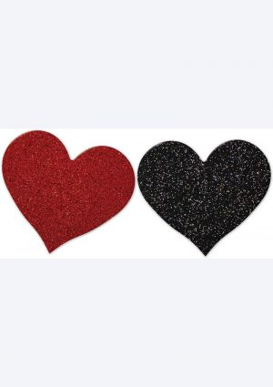 NIPPLICIOUS Heart Shape Pasties – Red/Black