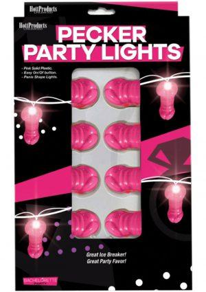 Bachelorette Pecker Party Lights - Pink