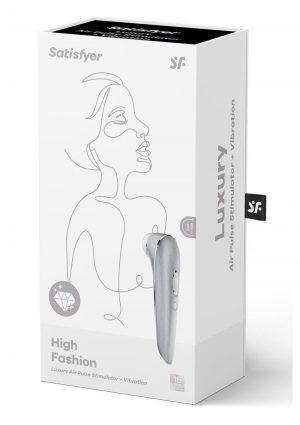 Satisfyer Luxury High Fashion Clitoral Stimulator Waterproof Silver