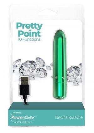 PowerBullet Pretty Point Rechargeable Bullet Vibrator - Teal
