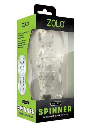 ZOLO Gripz Spinner Stroker Masturbator - Clear