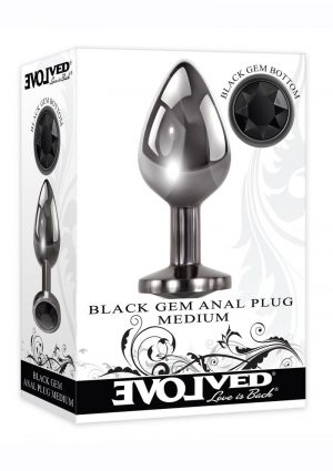 Black Gem Anal Plug - Medium