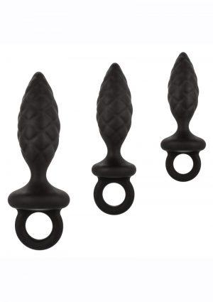Silicone Anal Probe Kit (Set of 3) - Black