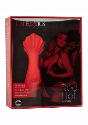 Red Hot Fuego Rechargeable Silicone Massager - Red
