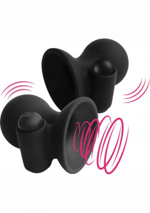Nipplelicious Vibrating Nipple Cups - Black