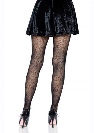 Leg Avenue Spider Lace Pantyhose – O/S – Black