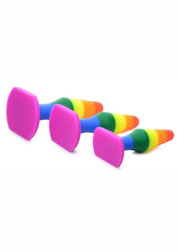 Frisky Rainbow Silicone Anal Trainer Set (3 Piece)