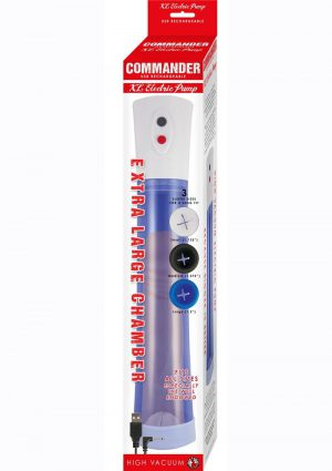 Commander Extra Large Electric Rechargeable Pump - Blue/White
